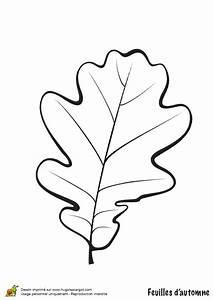 Feuilles D Automne à Imprimer : coloriage feuille de chene en automne ~ Nature-et-papiers.com Idées de Décoration