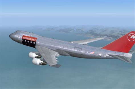 Northwest Airlines Boeing 747-400F for FS2004