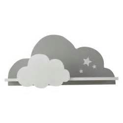 chambre bebe lune étagère murale nuage blanc gris 24 x 50 cm songe maisons