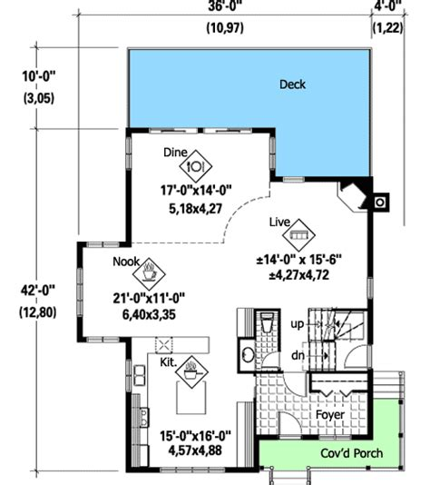 Plan 80745PM: Sloping Lot Beauty House plans Mountain