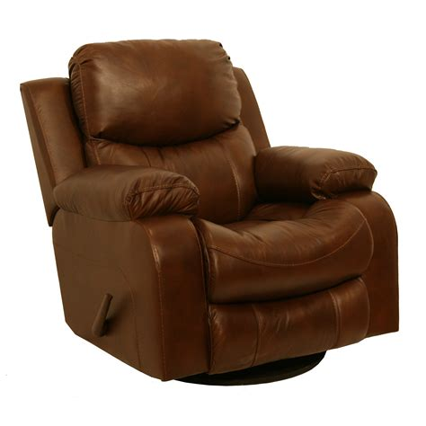 leather glider recliner with catnapper dallas leather swivel glider recliner