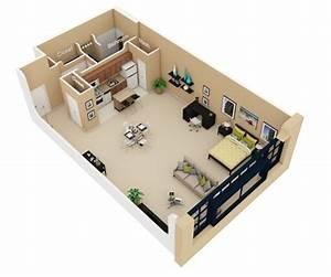 Studio Apartment Floor Plans - Futura Home Decorating