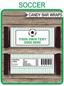 Birthday Candy Bar Wrappers Template Free Soccer Hershey Candy Bar Wrappers Personalized Candy Bars