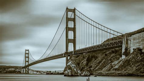 Fotos Gratis  En Blanco Y Negro, Puente De La Puerta De