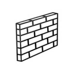 Wall clipart black and white - Pencil and in color wall ...