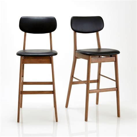 chaise haute la redoute chaise de bar lot de 2 watford noyer noir la redoute