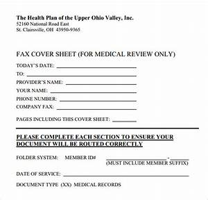 fax cover sheet 27 download free documents in pdf word sample templates With fax cover sheet for insurance claim