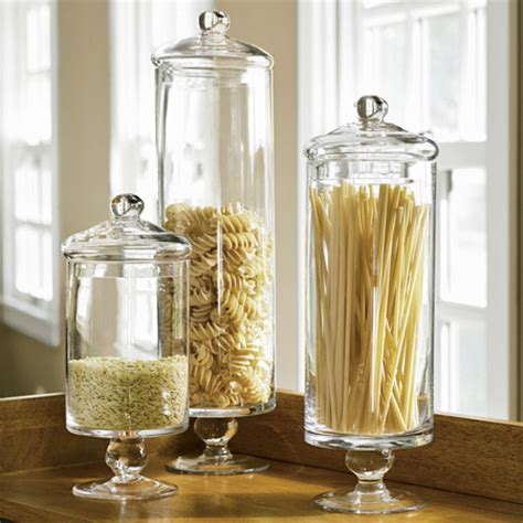 Kitchen Counter Decorative Items by Style Your Starches In Apothecary Jars Style Scoop