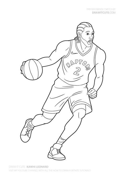 How to draw Kawhi Leonard | NBA - Draw it cute