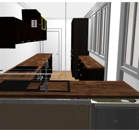 projet cuisine ikea avec verrière laxarby et plan de