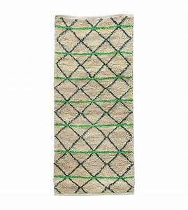 Teppich House Doctor : housedoctor vloerkleed green geometry groen zwart beige jute 90x200cm ~ Frokenaadalensverden.com Haus und Dekorationen
