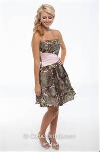 camouflage bridesmaid dresses realtree camo dress with pink quot belt quot realtreecamo camodress camo prom