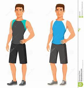 Handsome Young Guy In Fitness Outfit Stock Vector - Image ...
