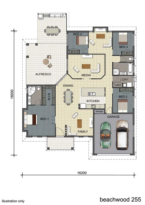 3 Bedroom House Queensland by Floorplan Design Single Storey Display Home Design
