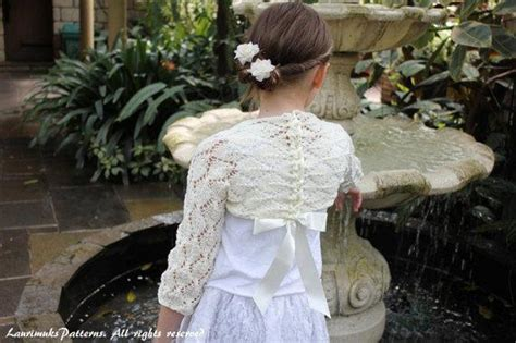 Girls lace shrug Knitting pattern by Laurimuks patterns ...