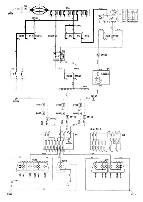 volvo s70 1998 2000 wiring diagrams stop l