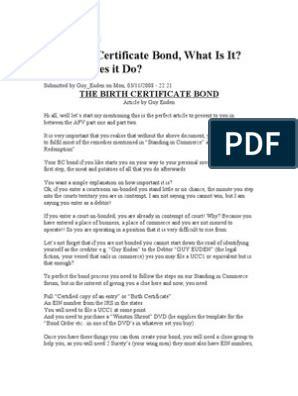 pull  birth certificate bonds  uniform