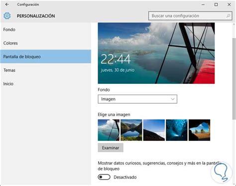 cambiar imagen de fondo de windows  bloqueado solvetic
