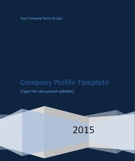 Company Profile Cover Design Template Free Download