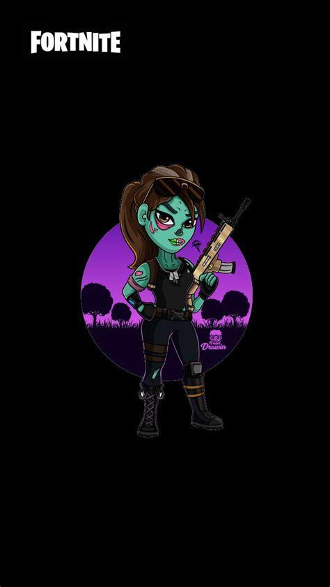 fortnite zombie chica fondos pantalla banner fondo hd wallpapers gaming fond trooper 4k game iphone epic ecran skin imagenes ghoul