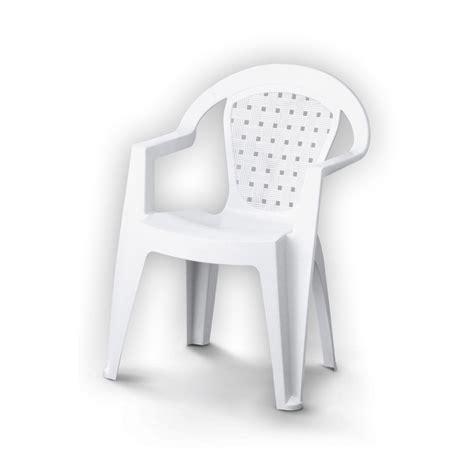 chaise de jardin blanche fauteuil de jardin en résine plastique norma blanc