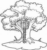 Tree Drawing Magical Treehouse Coloring Magic Pages sketch template