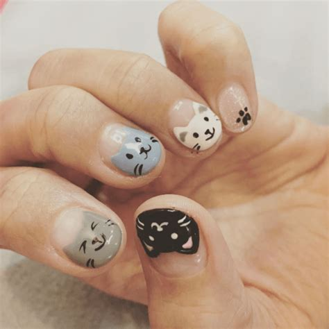 cat nail art designs      coolest cat