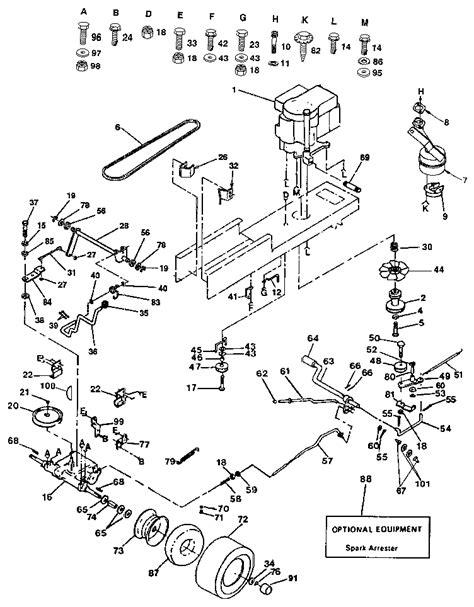 Craftsman Lt4000 Wiring Diagram by Craftsman 18 Hp 42 Lawn Mower Parts Diagram