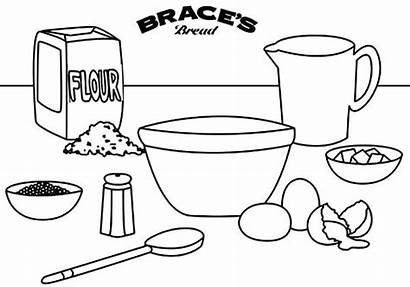 Coloring Bakery Ingredients Names Bulk Sheets Worksheets