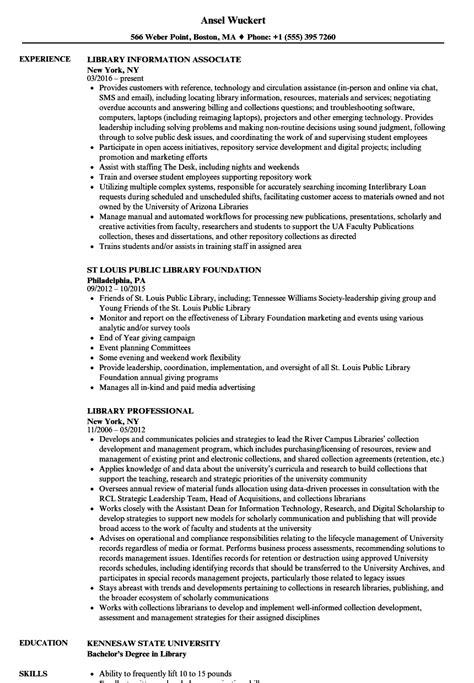 Resume Library by Library Resume Sles Velvet
