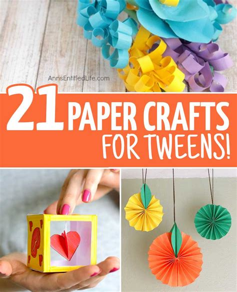 Fun Crafts For Tweens With Paper  Moms And Crafters
