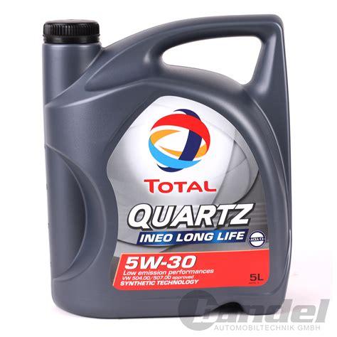 longlife öl 5w30 5 49 l 2x5 liter total quartz ineo 5w 30 vw