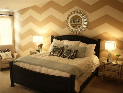 Bedroom One Wall Different Color by Chevron Accent Wall This Is A Fabulous Way To Accent One