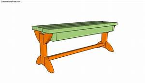 Simple Garden Bench Plans | Free Garden Plans - How to ...