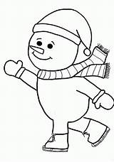 Skating Coloring Ice Snowman Skate Christmas Pages Mr Doing Playing Winter Print Season Popular Colorluna sketch template