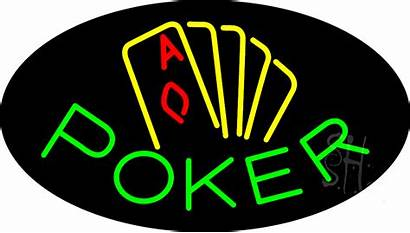 Neon Poker Sign Signs Animated Business