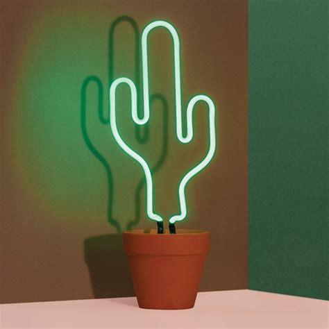 neon cactus l tropical plant light doiy