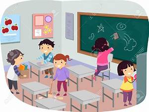 Children Cleaning In School Clipart - ClipartXtras