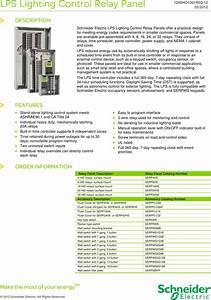 Lps Lighting Control Relay Panel Brochure