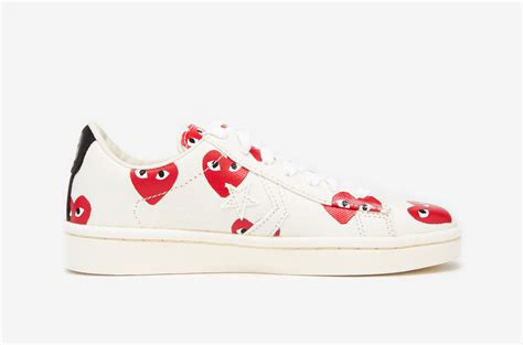 Play Comme Des Garçons Pro Leather Low Top In White