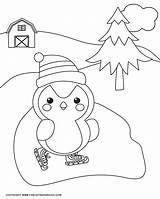 Winter Pages Coloring Penguin Sheets Printable Fun Families Loving Snowman Splendi Pagesr Marvelous Funlovingfamilies sketch template