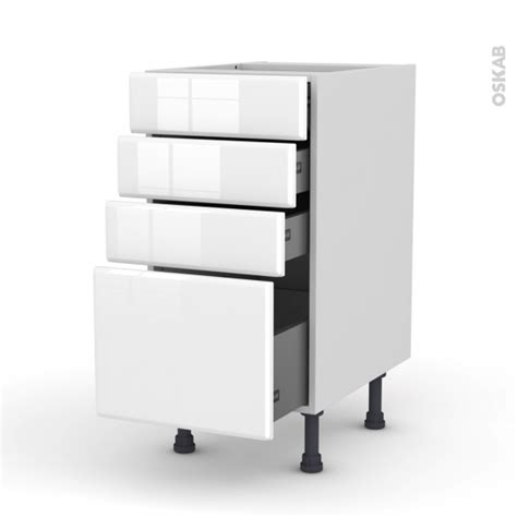 meuble cuisine casserolier meuble de cuisine casserolier iris blanc 4 tiroirs l40 x
