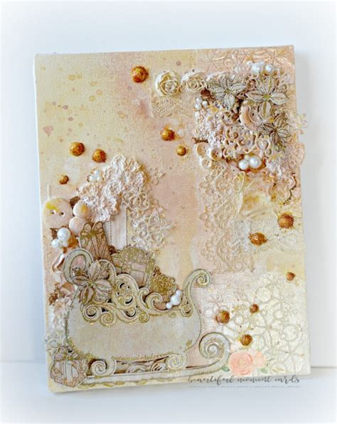 shabby chic canvas shabby chic christmas canvas by tracey fehr at splitcoaststers
