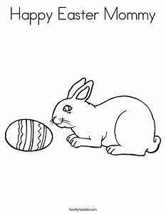 Happy Easter Mommy Coloring Page - Twisty Noodle