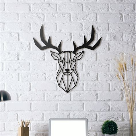 decoration murale metal accessoires deco stag metal decoration artwall and co