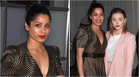 rohan chand sexy freida pinto makes a strong style statement in this