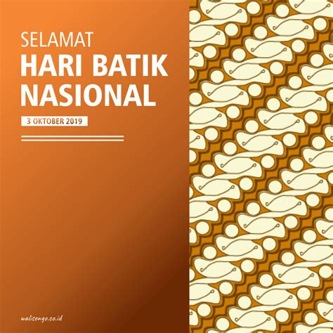 desain poster background  hari batik nasional
