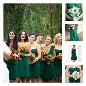 Chignon Demoiselle D Honneur Mariage : robe demoiselle d 39 honneur vert meraude mariage pinterest mariage blog and robe ~ Melissatoandfro.com Idées de Décoration