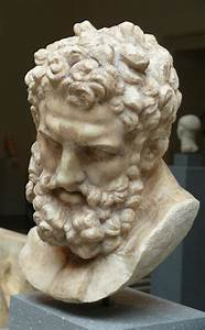 Head of Herakles, marble, Roman, Imperial period, 1st ...