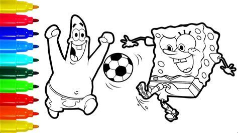 Spongebob Patrick Football Coloring Pages